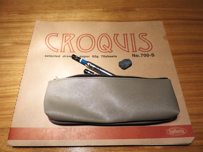 クロッキー帳と筆箱